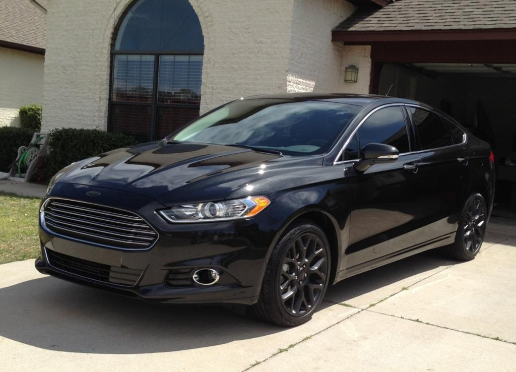 2015 Ford Fusion Rims >> $399 - 2015 Ford Fusion-Black with Black Interior and Red ...