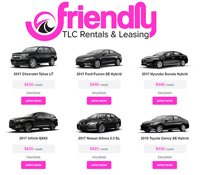 Weekly Deal Friendlytlc Great Uber Car Rental Selection In